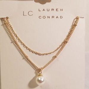 LC Lauren Conrad Double Strand Faux Pearl Necklace